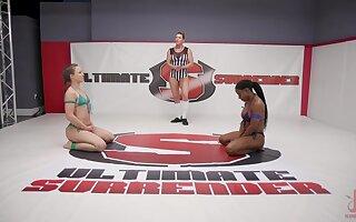 Hardcore lesbian wrestling with Cheyenne Jewel and Kelli Provocateur