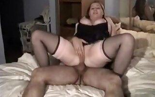 Horny busty brunette wife in lingerie rides her man bareback
