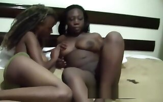 African Lesbian Cuties missed eachother so much! Watch how