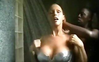 Black bull fucks my gf doggystyle in the shower