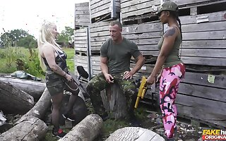 Astounding outdoors interracial foursome with Lola Marie added to Princess Eve