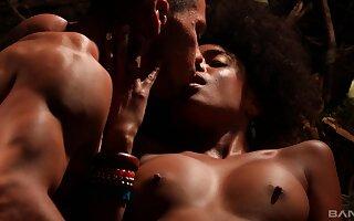 Sensual interracial lovemaking with ebony star Luna Corazon