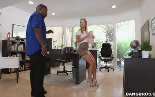 Interracial fucking give hot bore blondie Candice Danger on high the love-seat