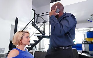 Black man suits blonde MILF with the monster she on all occasions looked-for
